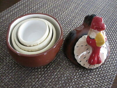 Millie Hen House Ceramic Chicken Big Sky Carvers Phyllis Driscoll measuring cups