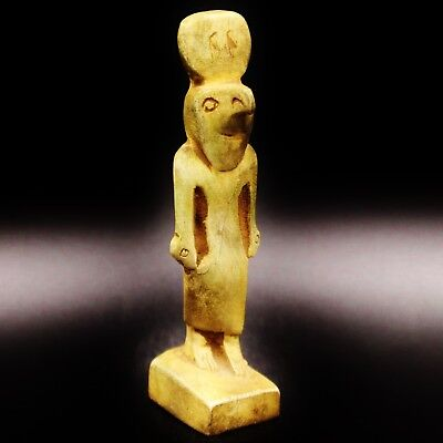 e Antique Egyptian Amulet Figurine Small Statue of Falcon GOD Horus