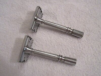 vintage Gem micromatic safety razors lot of 2 lot T3