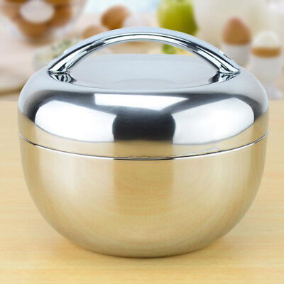 2 Layers Stainless Steel Lunch Box Bento Food Container Storage Lunchbox AU