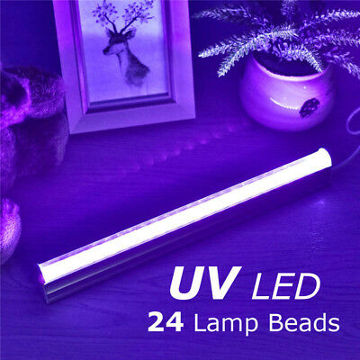 USB 5V 30cm Black Light Bar UV 24 LEDs 395nm Blacklight Party Club Decor Lamp