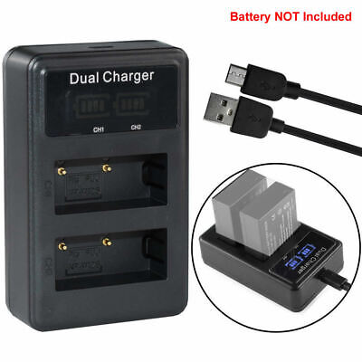 Battery LCD USB Charger for Fuji NP-W126 X-E1 X-M1 X-Pro1 FinePix HS33 HS50