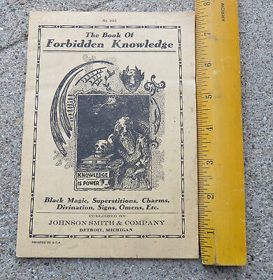 Rare 1920s The Book of Forbidden Knowledge Black Magic Superstitions Signs Omens