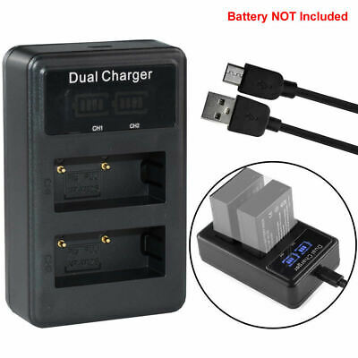 Battery LCD Dual Charger for Fujifilm NP-W126 FinePix HS30EXR X-A1 X-M1 X-Pro1
