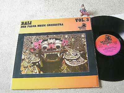BALI VOL. 3 Den Pasar Music Orchestra FRANCE 2LP +FOC MONKEY MY 41003 GAMELAN