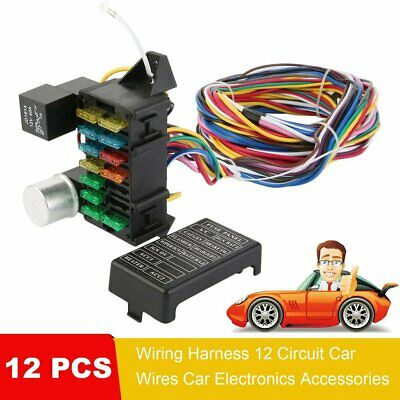 12 circuit basic wire harness fuse box street hot rat rod wiring car 280Z Rat Rod 12 circuit basic wire harness fuse box street hot rat rod wiring car truck 12v