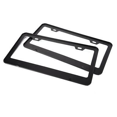 2pcs Aluminum Alloy Car License Plate Frame Tag Cover Holder With Screw Caps