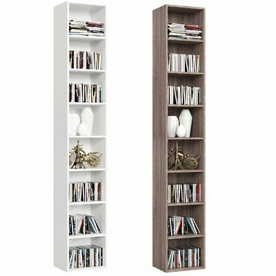 8 fächer Bücherregal Regalsystem Standregal CD Regal Büroregal Holz Wandregal