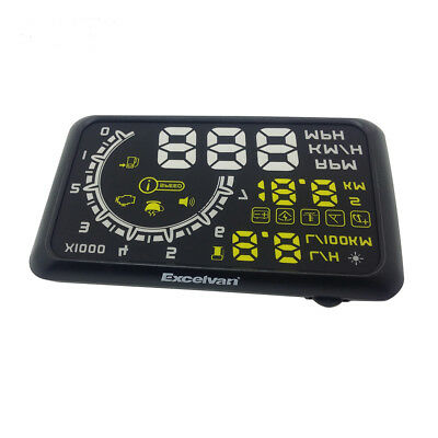 Universal Truck Car HUD Head Up Display OBDII OBD2 Speed Water Fuel Consumption