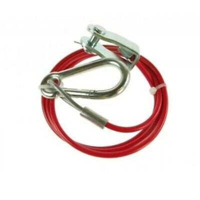 Trailer Breakaway Cable 1m x 3mm with Clevis