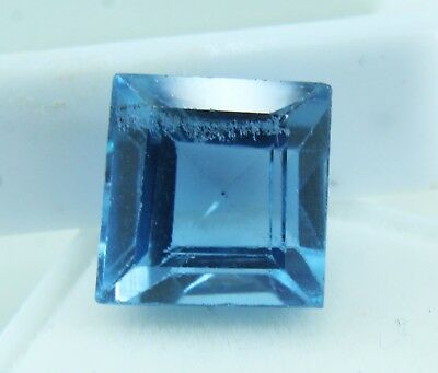 8.50 Ct Natural Emerald Cut Transparent Ocean Blue Aquamarine Gem GGL certified