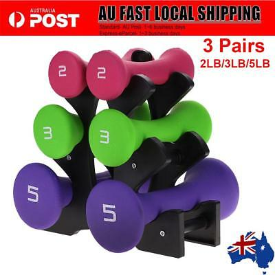 6PCS Hand 20LB Dumbbell Weights Set Anti-slip Exercise Fitness Home Gym Dumbells