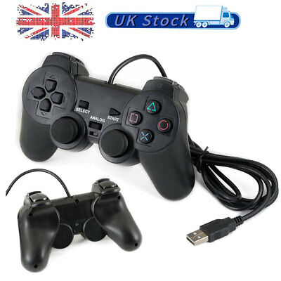 USB 2.0 PS3 Wired Game Controller Gamepad Joypad for PC Laptop Computer UK