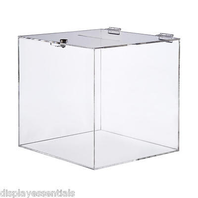 Large Clear Acrylic Suggestion Box Comments Box Raffle Box
