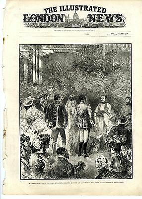 1890 ILLUSTRATED LONDON NEWS Frank Tinsly James FRENCH SARDINE INDUSTRY (9662)