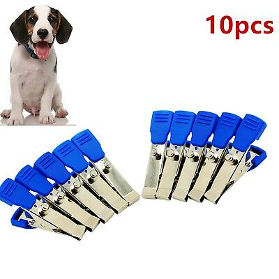 10pcs Veterinary Animal EKG/ECG Machine Alligator Electrode Clip Vet Use Clamps