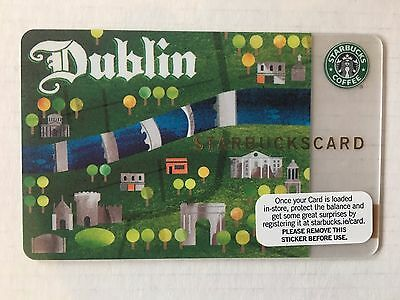 Starbucks Dublin Card 2009. Mint Condition. Very Hard To Find