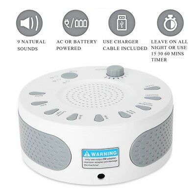 UK Sound Spa Relax Machine White Noise Baby EasySleep Nature Night Peace Therapy