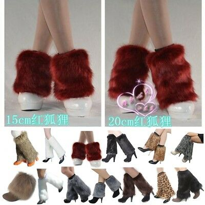 Womens Girls Boot Cuff Fluffy Comfy Furry Faux Fur Leg Warmers Fall Winter Super