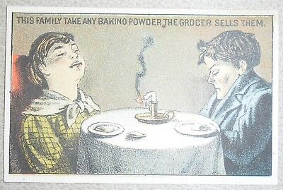 Victoria Trade Card Sea Foam Baking Powder Gantz Jones New York Asleep at Dinner