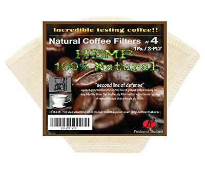 P&F Natural Reusable Cone Coffee Filters #4 Melitta Style, No Harmful Chemical,