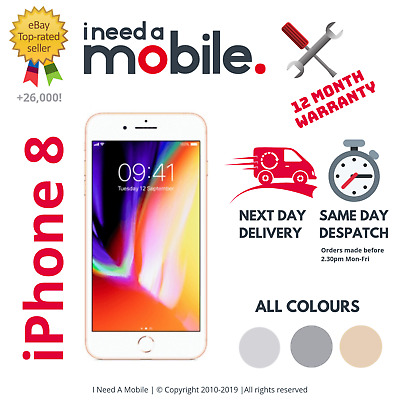 Apple iPhone 8 - 64GB - 256GB - Unlocked - All Networks - Various Colours