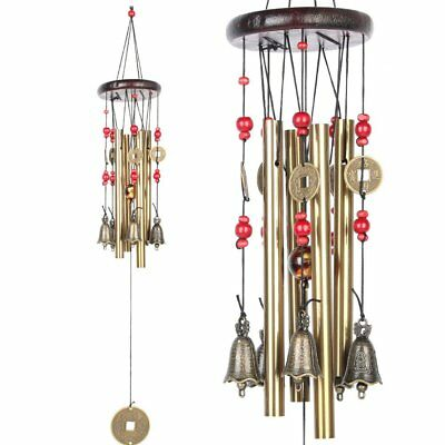 4 Tubes 5bells Bronze Wind Chimes 60cm Chinese Traditional Amazing Good