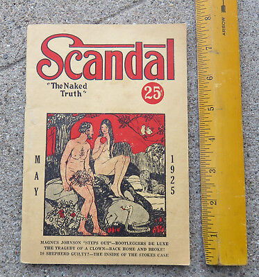 "Original May 1925 Scandal "" The Naked Truth"" Magazine / Booklet"