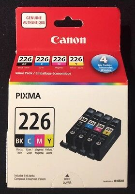 Canon Pixma CLI-226 BK,C,M,Y- Ink Value Pack **NEW FACTORY SEALED 100% GENUINE**