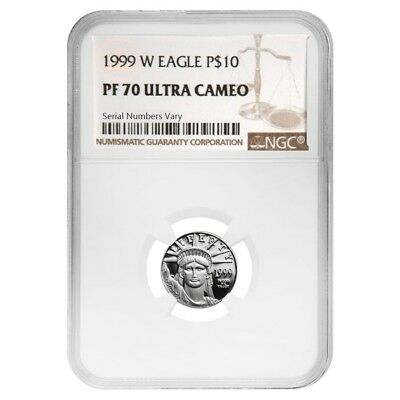 1999 W 1/10 oz $10 Platinum American Eagle Proof Coin NGC PF 70 UCAM