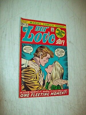 Marvel Comics Our Love Story romance comic book #15 Feb 1972 FN or better