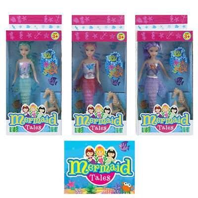 """2018 7"""" Mermaid Doll Fairytale Girls Toy With 2 Accessories Stocking Filler Gift"""