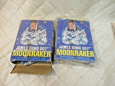 Vintage 2 Boxes of O-Pee-Chee James Bond Moonraker Trading Cards and Bubblegum