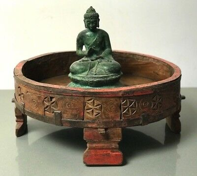 Antique/vintage  Indian Furniture. Spice Grinding Chakki Table. Coffee Table?