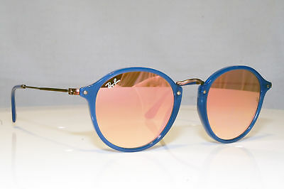 c318910fd24 RAY-BAN Mens Unisex Mirror Designer Sunglasses Blue Round RB 2447 6250 70  17008