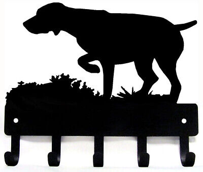 German Shorthaired Pointer GSP #2 Dog Leash Hanger Metal Key Rack Holder LG