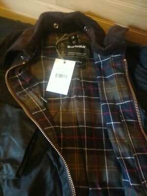 Mens BARBOUR CLASSIC BEDALE Waxed Cotton Green JACKET Size 44
