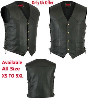 MOTORCYCLE LEATHER VEST UNISEX Leather vest