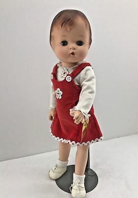 "16"" Reproduction Vinyl Effanbee Patsy Joan Doll Red Jumper Tag White Shoes 1994"