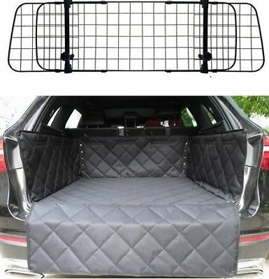 Mesh Headrest Pet Dog Guard + Quilted Boot Liner For BMW X5 (99 - 06) 2 X HOLES
