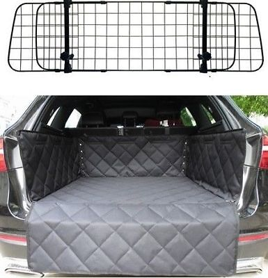 Mesh Headrest Pet Dog Guard + Quilted Boot Liner For Audi A6 Allroad 2006-2016