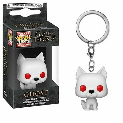 Game Of Thrones - S9 - Ghost - Funko Pop! Keychain: (2018, Toy NUEVO)