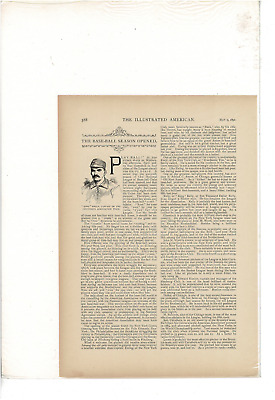 May 1891 Illustrated American Chicago New York Brooklyn Pittsburg Ad Print C816