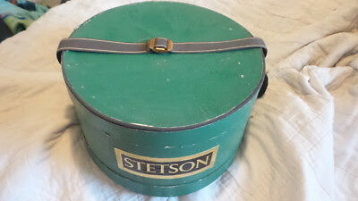 Vintage  STETSON Cowboy Hat GREEN BOX ONLY Carrying Strap