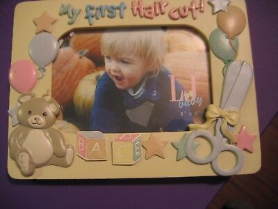 """Lil Baby 4"""" X 6"""" -- My First Hair Cut Picture Frame"""