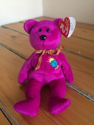 f9994d1082e Millennium Ty Beanie Baby original bear in purple form 1999 - retired