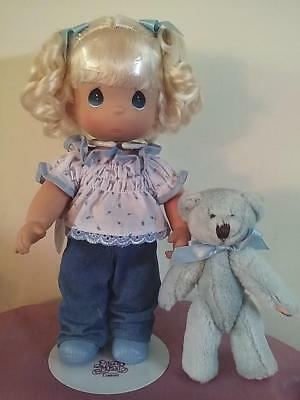 "SO CUTE!! Precious Moments 10""  Pose able ""I'M BLUE WITHOUT YOU"" Doll from 2007"