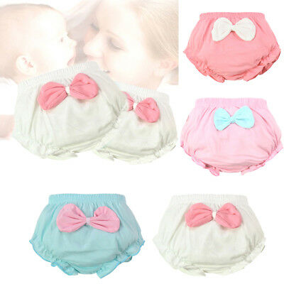 Baby girl infant training Pants panties Cloth Diapers kids big bow underwear OJ