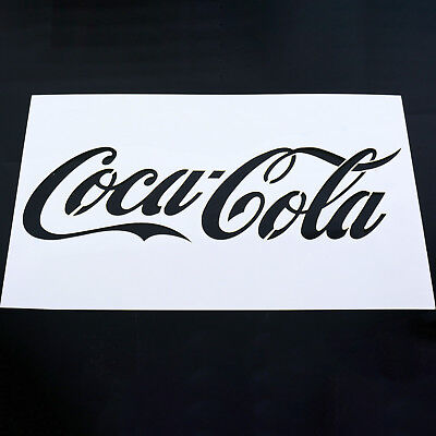 Coca Cola Coke Stencil MYLAR Sheet 190 Micron Reusable Plastic Craft Stencil