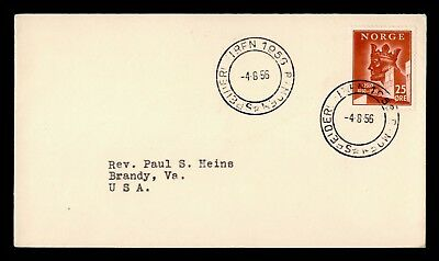 DR WHO 1956 NORWAY TO USA  d41121